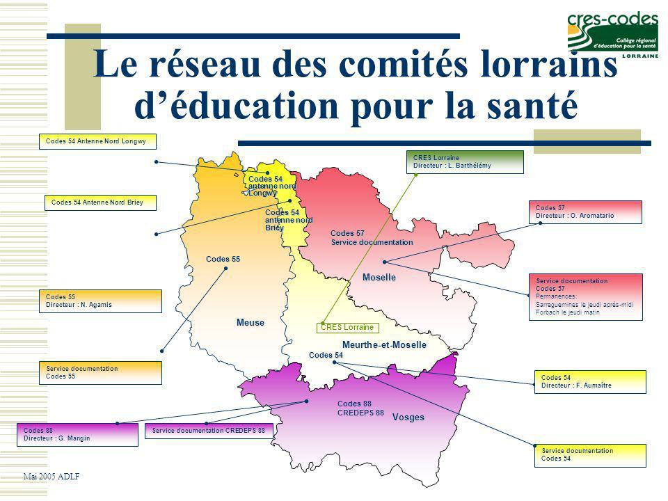 Le réseau des comités lorrains d'éducation pour la santé