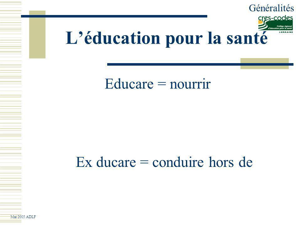 L'éducation pour la santé