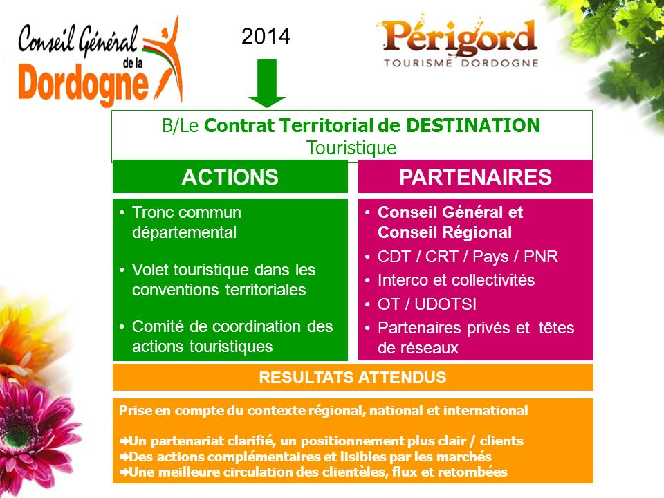 B/Le Contrat Territorial de DESTINATION Touristique
