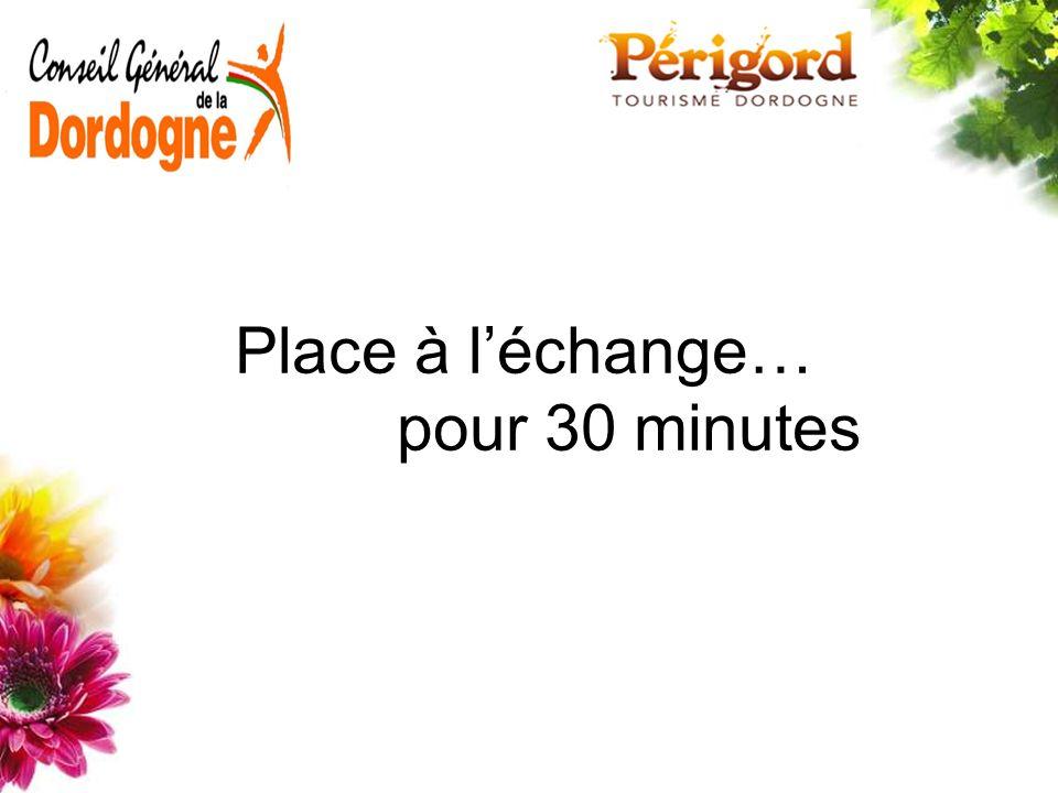 Place à l'échange… pour 30 minutes