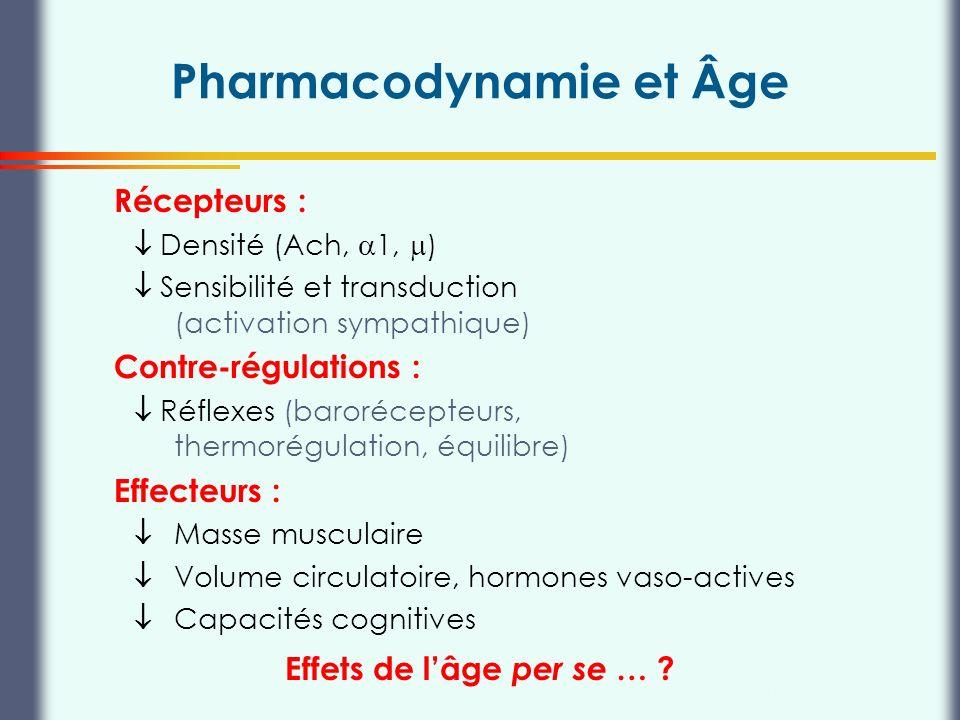 Pharmacodynamie et Âge