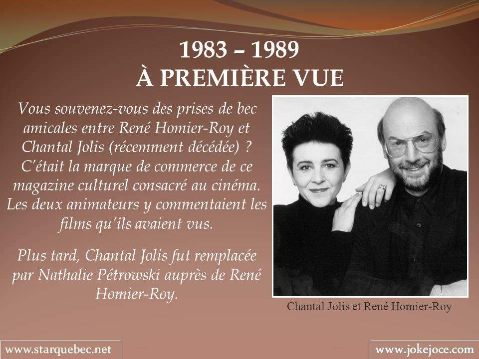 Chantal Jolis et René Homier-Roy