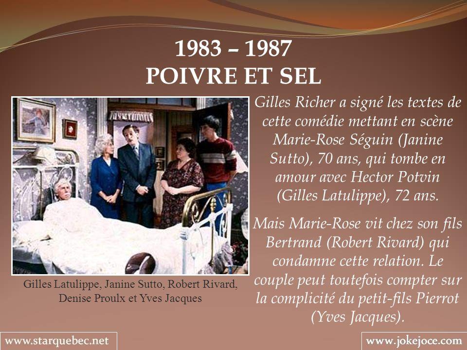 1983 – 1987POIVRE ET SEL.