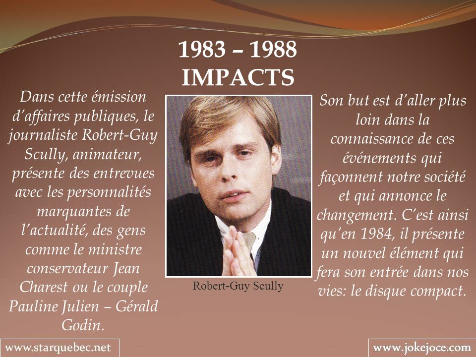 1983 – 1988 IMPACTS.