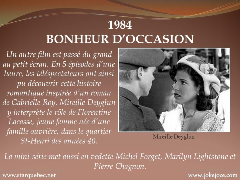 1984 BONHEUR D'OCCASION.