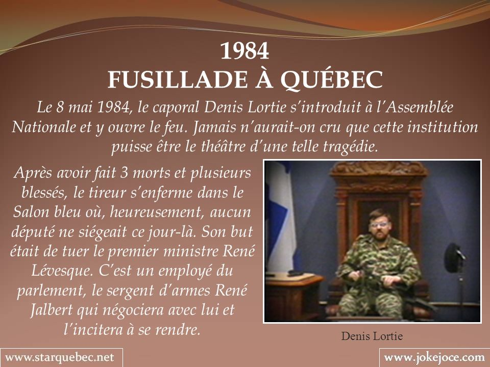 1984FUSILLADE À QUÉBEC.