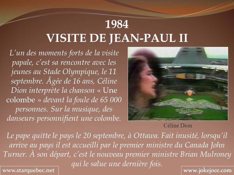 1984VISITE DE JEAN-PAUL II.