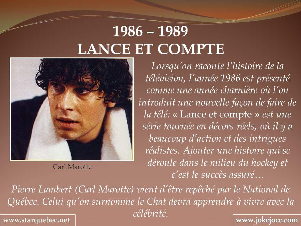 1986 – 1989 LANCE ET COMPTE.