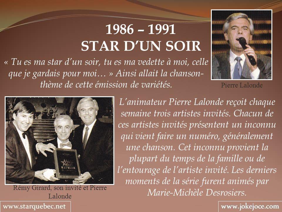 Rémy Girard, son invité et Pierre Lalonde