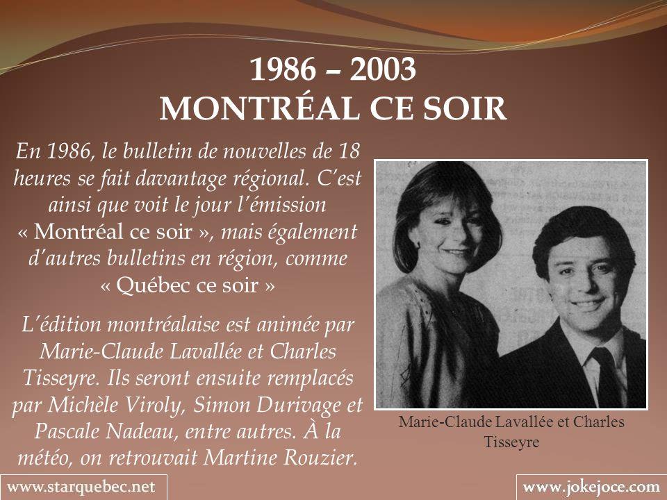 Marie-Claude Lavallée et Charles Tisseyre