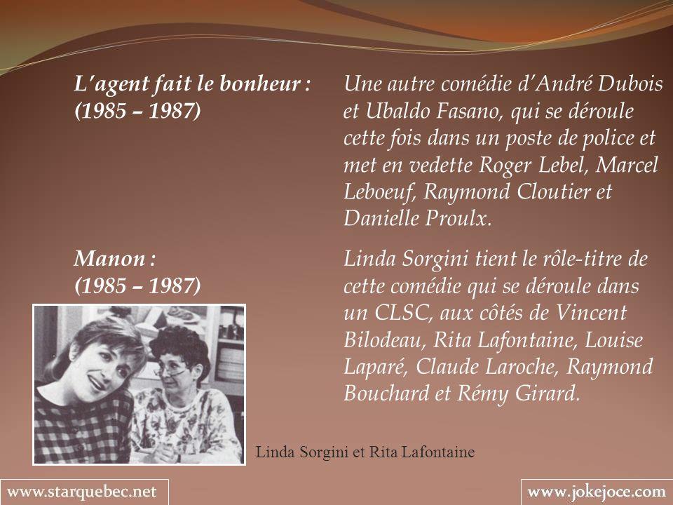 Linda Sorgini et Rita Lafontaine