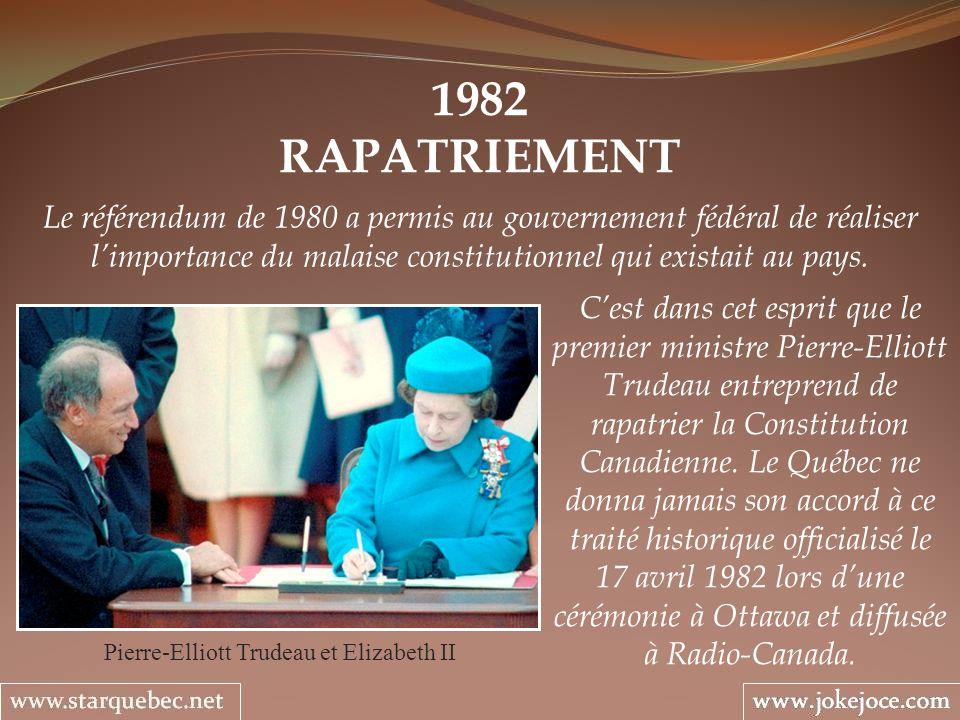 Pierre-Elliott Trudeau et Elizabeth II