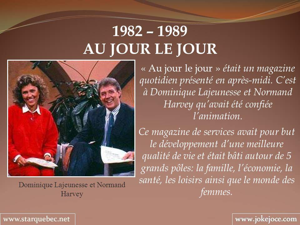 Dominique Lajeunesse et Normand Harvey