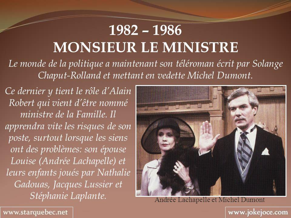 Andrée Lachapelle et Michel Dumont