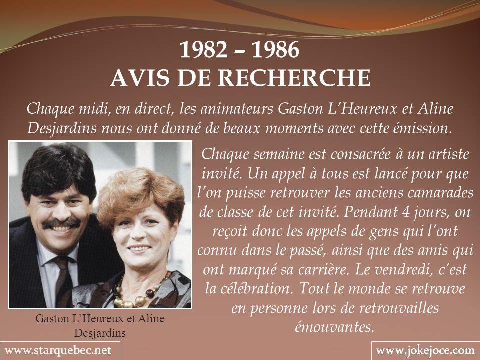 Gaston L'Heureux et Aline Desjardins