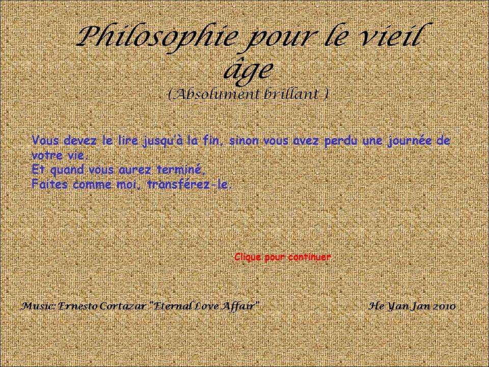 Philosophie pour le vieil âge