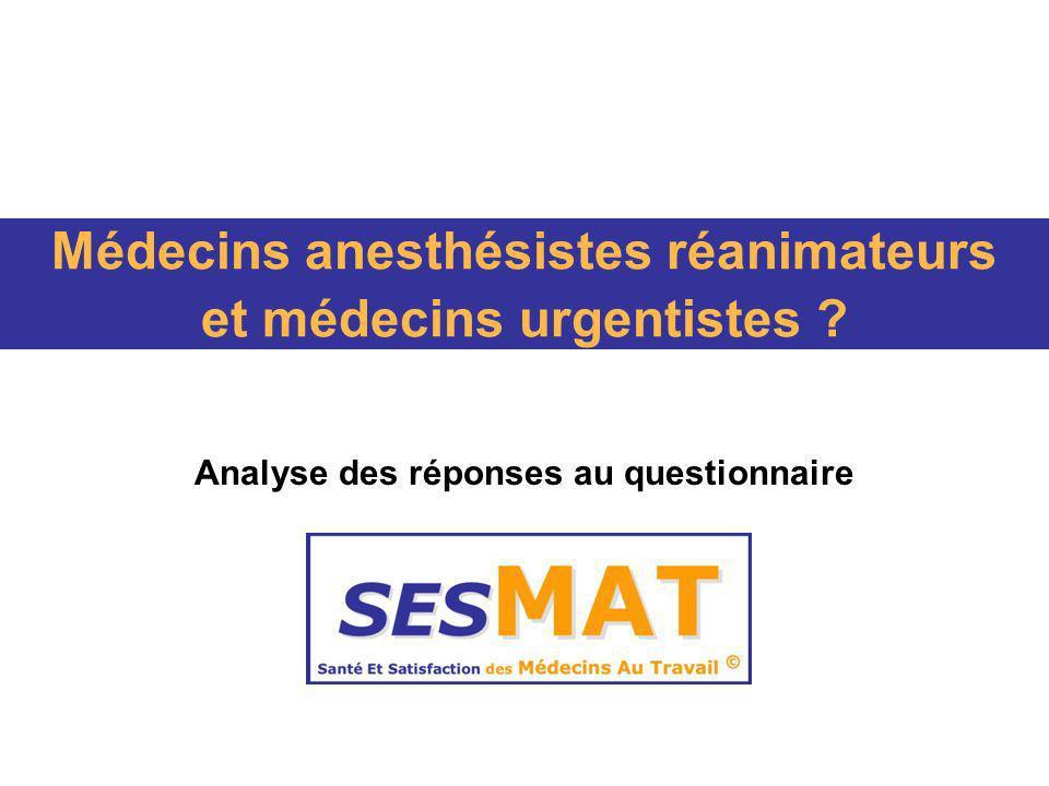 Médecins anesthésistes réanimateurs et médecins urgentistes