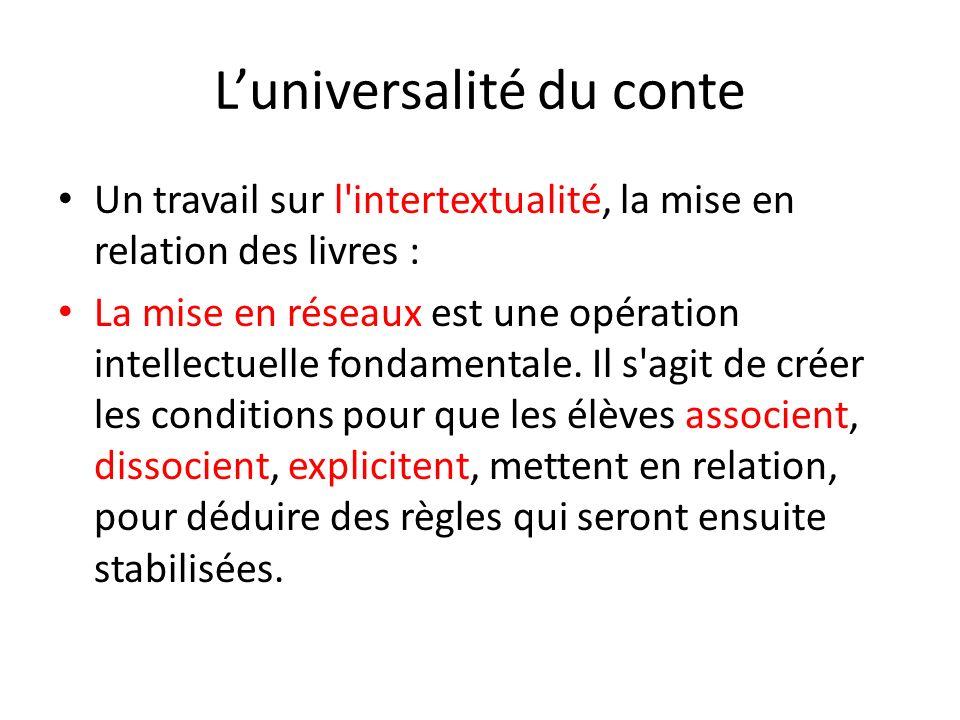 L'universalité du conte