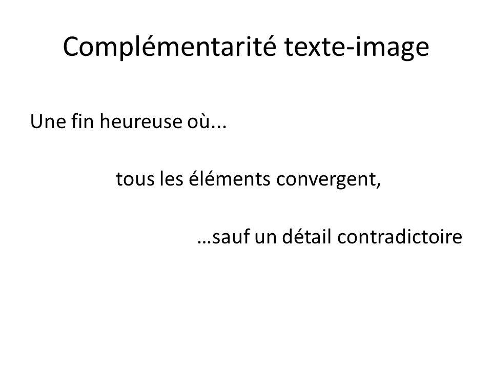 Complémentarité texte-image
