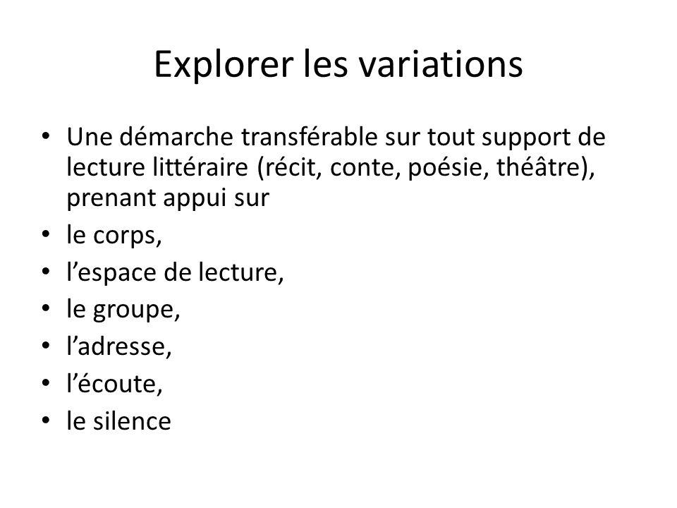 Explorer les variations