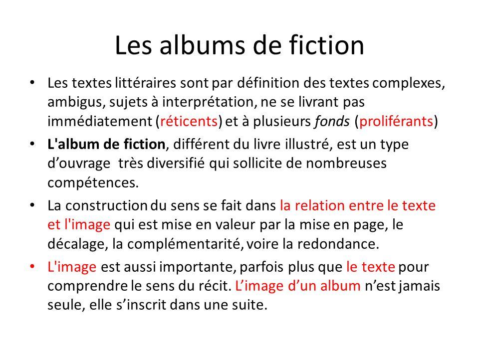 Les albums de fiction