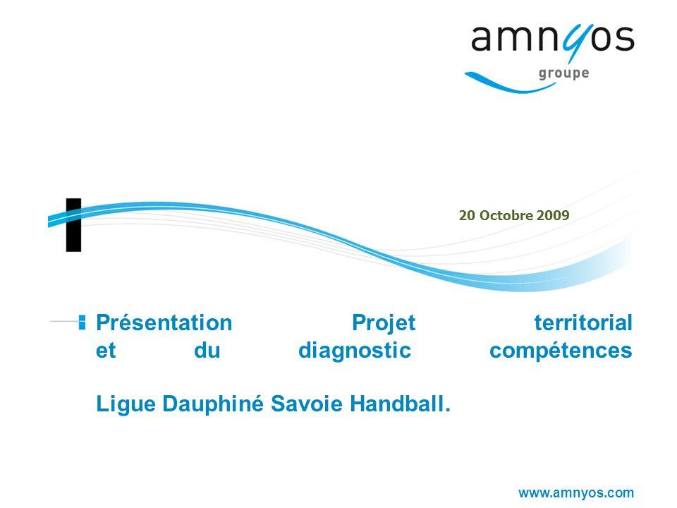 20 Octobre 2009 Présentation Projet territorial et du diagnostic compétences Ligue Dauphiné Savoie Handball.