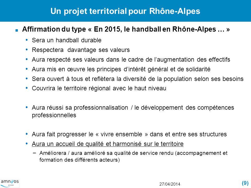 Un projet territorial pour Rhône-Alpes