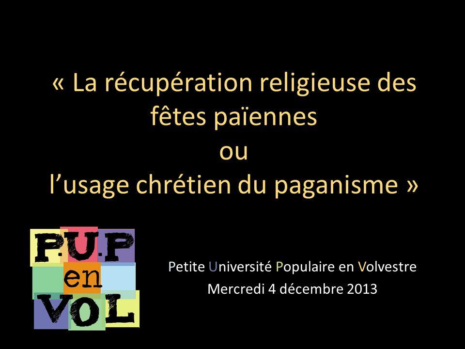 Petite Université Populaire en Volvestre Mercredi 4 décembre 2013
