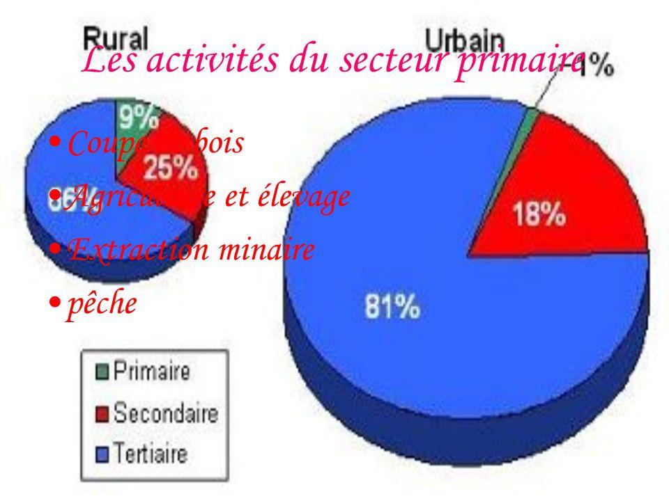 Les activités du secteur primaire