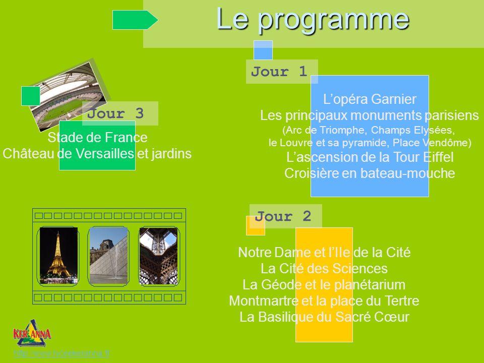Le programme Jour 1 Jour 3 Jour 2 L'opéra Garnier