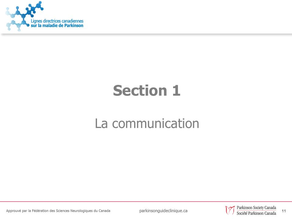 Section 1 La communication