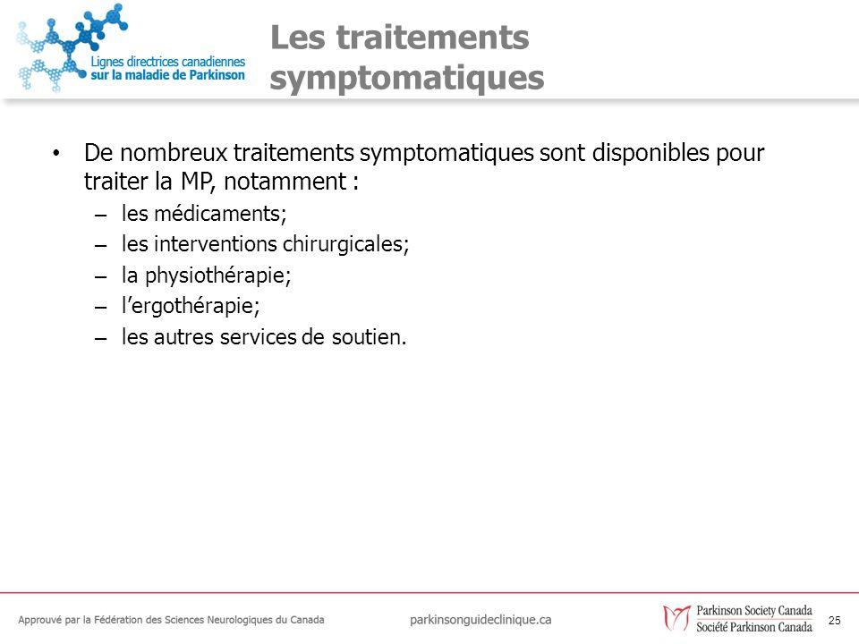 Les traitements symptomatiques