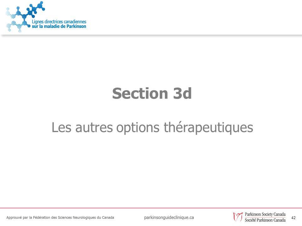 Les autres options thérapeutiques