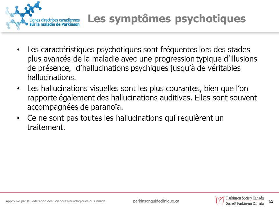 Les symptômes psychotiques