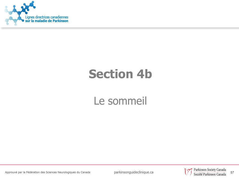 Section 4b Le sommeil