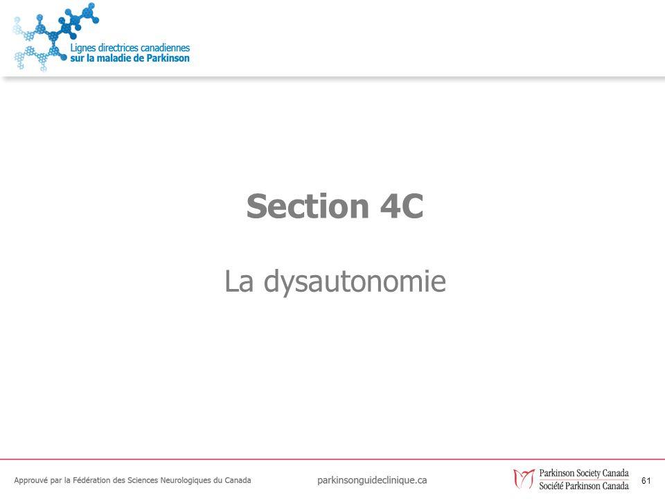Section 4C La dysautonomie