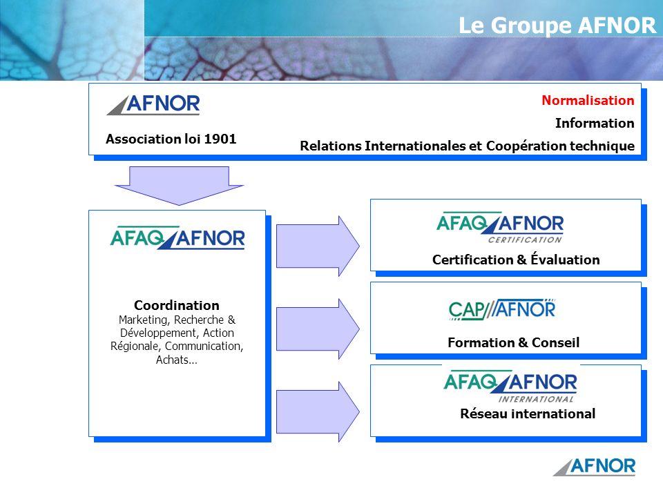 Le Groupe AFNOR Normalisation Information