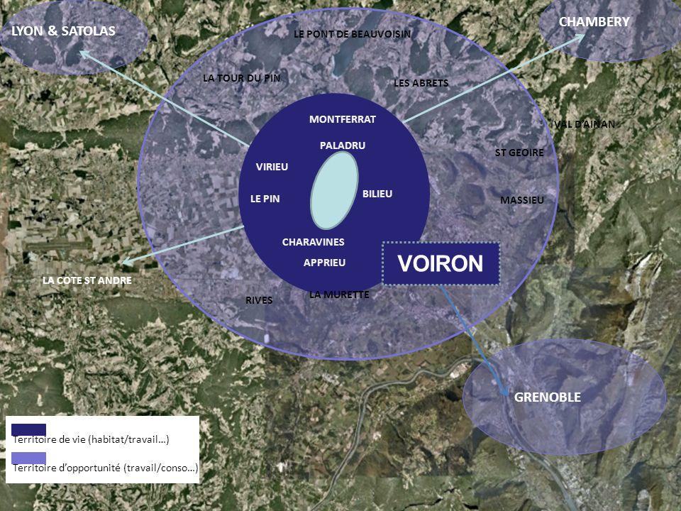 VOIRON CHAMBERY LYON & SATOLAS GRENOBLE LE PONT DE BEAUVOISIN