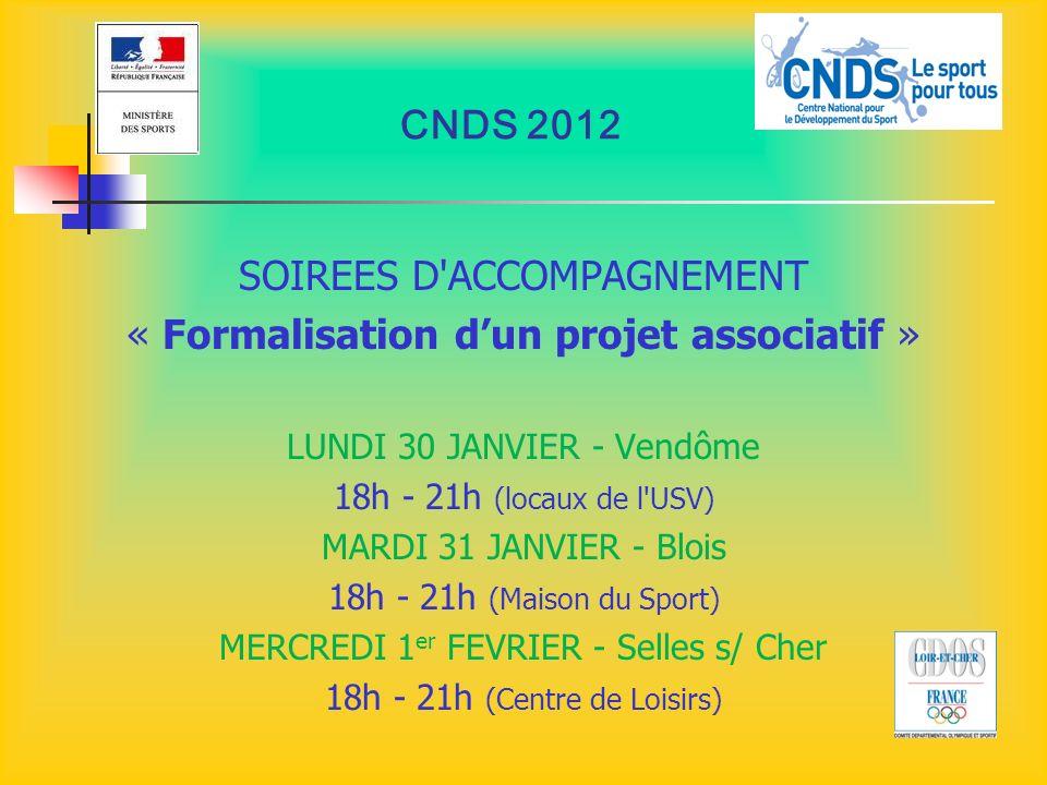 SOIREES D ACCOMPAGNEMENT « Formalisation d'un projet associatif »