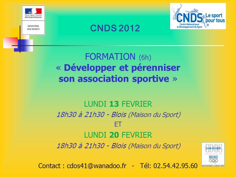 « Développer et pérenniser son association sportive »