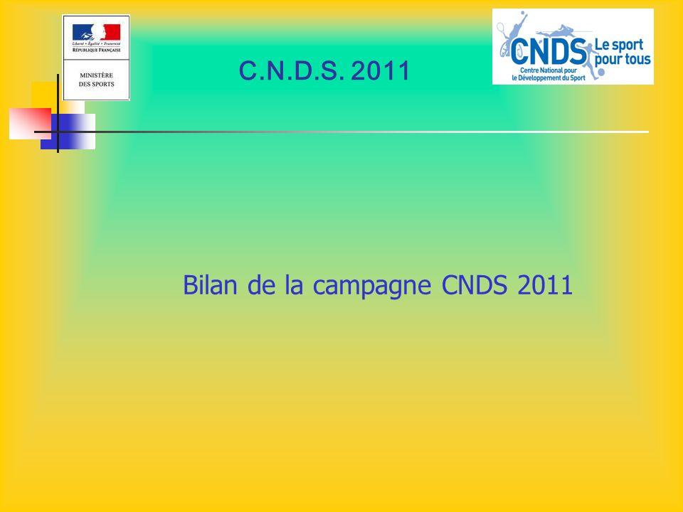 Bilan de la campagne CNDS 2011