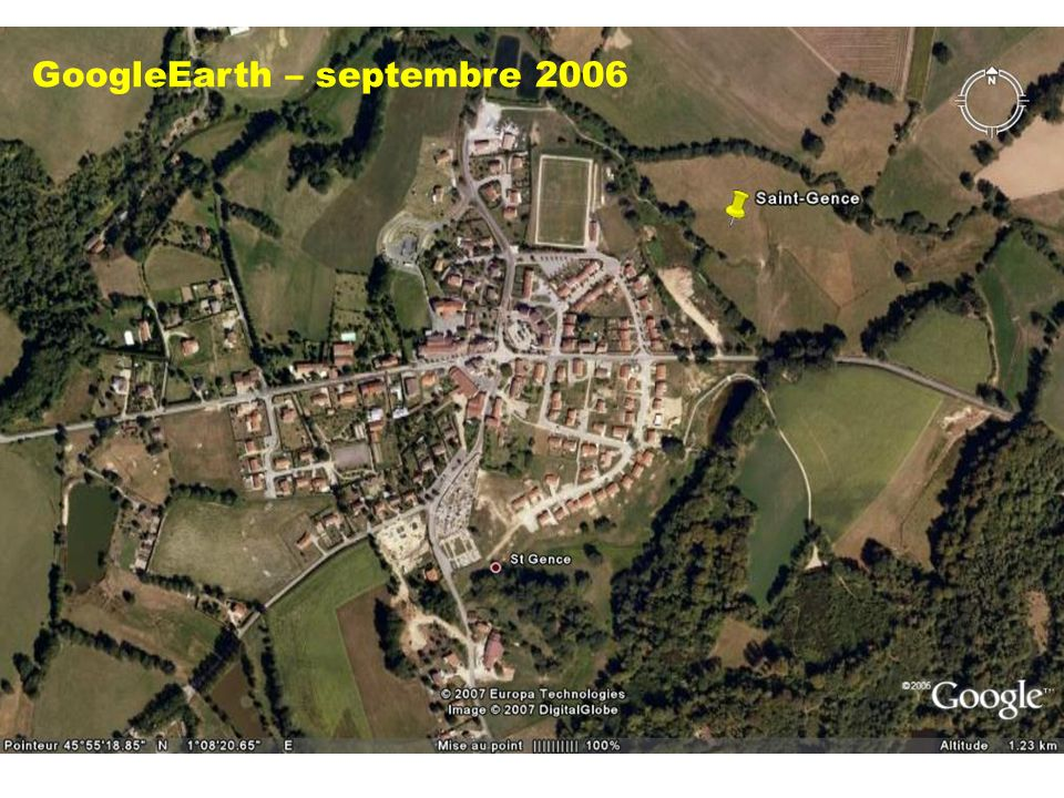 GoogleEarth – septembre 2006