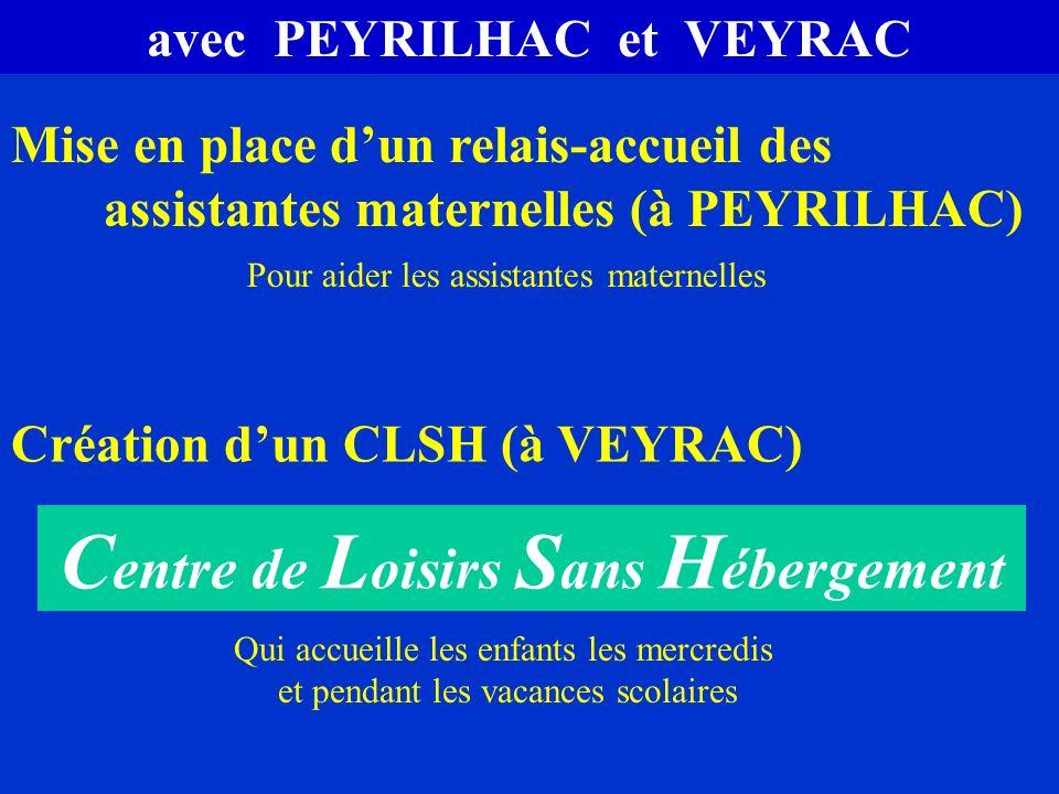 avec PEYRILHAC et VEYRAC Centre de Loisirs Sans Hébergement