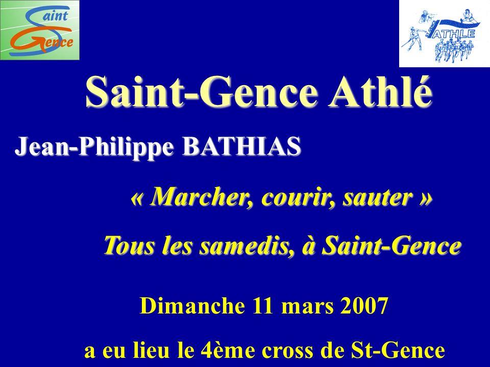 « Marcher, courir, sauter » Tous les samedis, à Saint-Gence