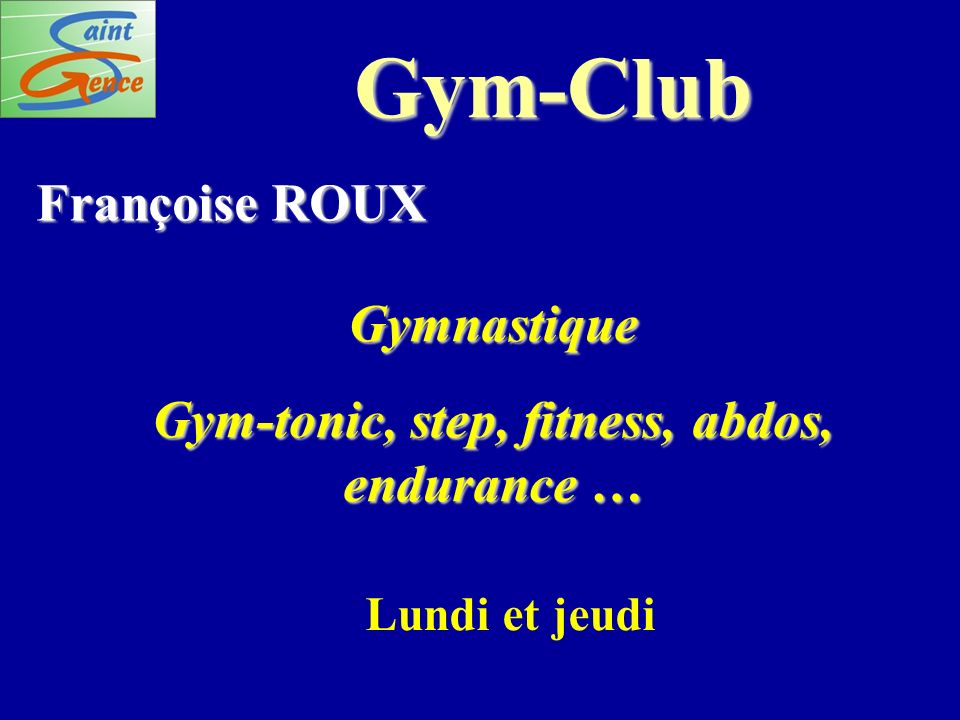 Gym-tonic, step, fitness, abdos, endurance …