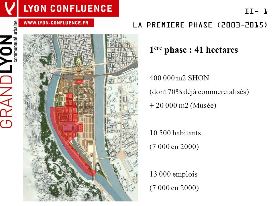 1ère phase : 41 hectares II- 1 LA PREMIERE PHASE (2003-2015)