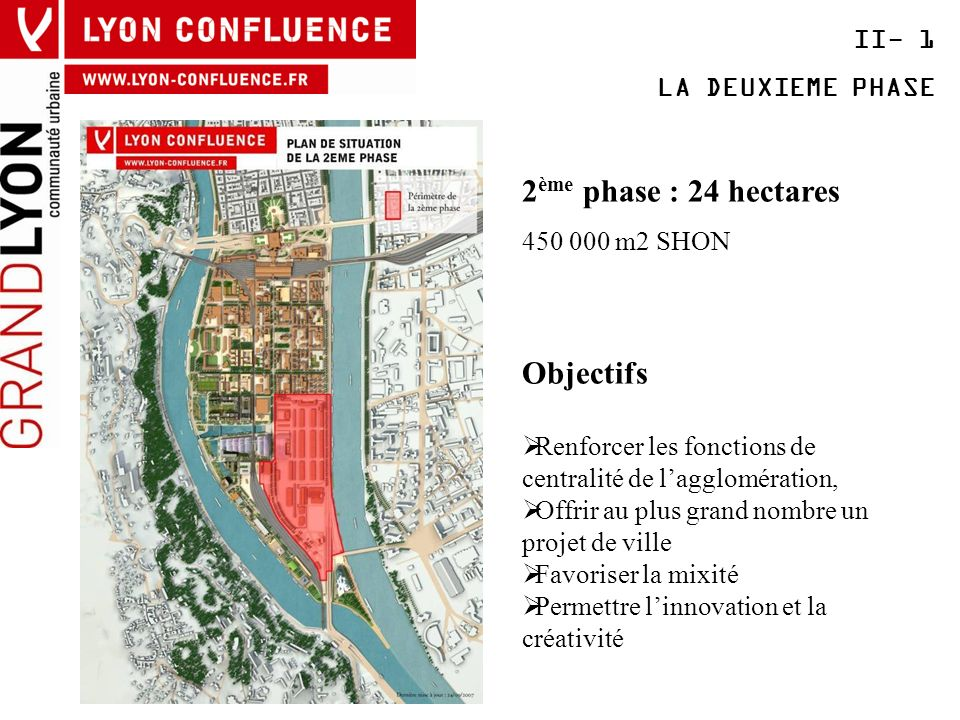 2ème phase : 24 hectares Objectifs II- 1 LA DEUXIEME PHASE