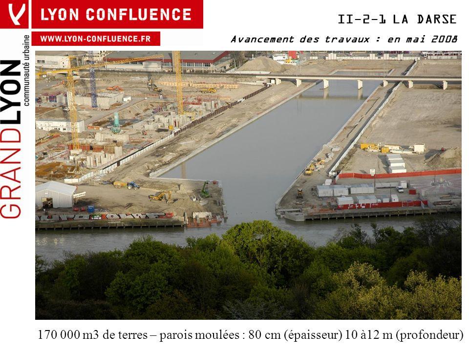 II-2-1 LA DARSE Avancement des travaux : en mai 2008.