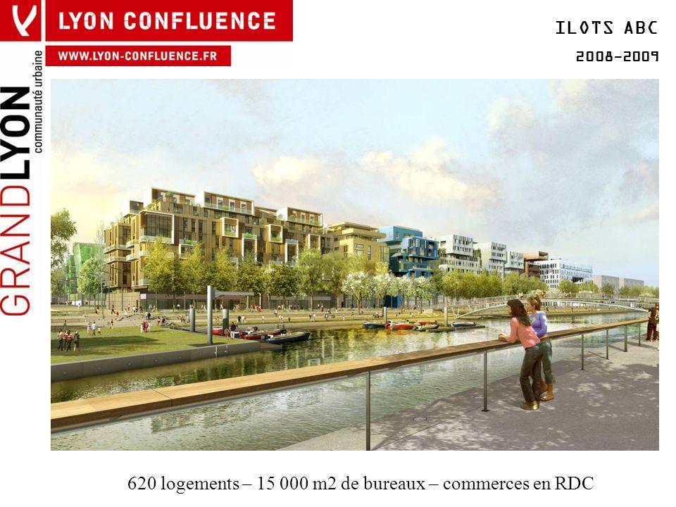 620 logements – 15 000 m2 de bureaux – commerces en RDC