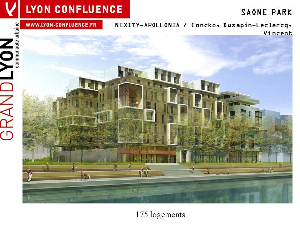 SAONE PARK NEXITY-APOLLONIA / Concko, Dusapin-Leclercq, Vincent 175 logements